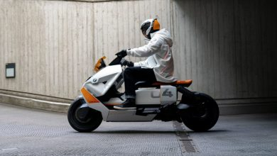 Futuristic BMW electric scooter ready for series production, show design submissions