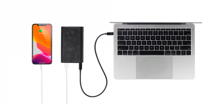 This 20,000 mAh power bank is also MagSafe-enabled