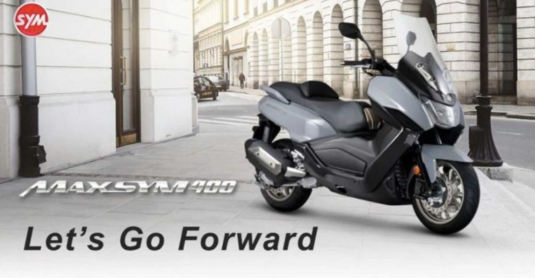 The brand new SYM Maxsym 400 scooter is making its debut