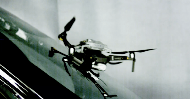 What happens if a drone hits a windshield?