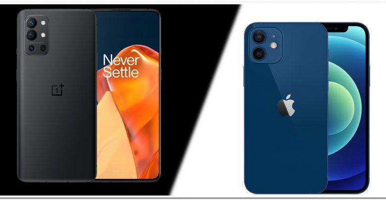 oneplus 9R vs iPhone 12