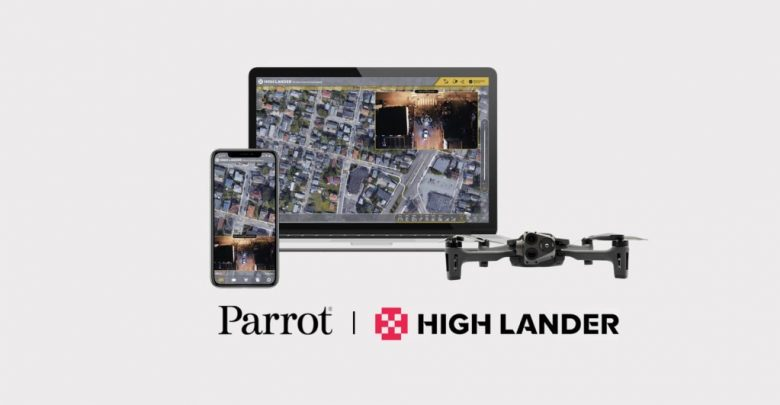 Parrot and High Lander Mission Control App for ANAFI