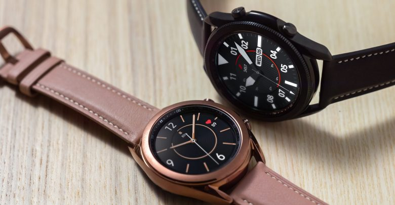 Samsung Galaxy Watch 3 on wooden table