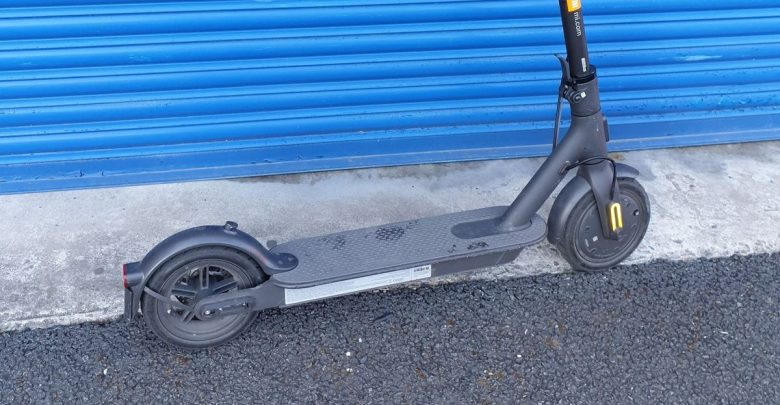 The police confiscated the child's e-scooter after the 13-year-old zoomed in on a small roundabout