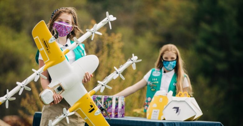 Girl Scout Cookies from Drone: Wing helps local troops