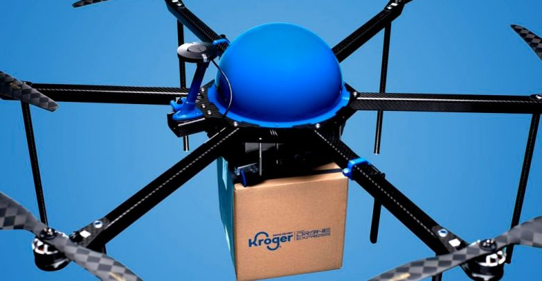 Delivery of drone food: Kroger, Drone Express
