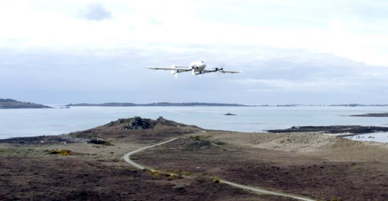 Royal Mail Drone Delivery for parcel deliveries between islands