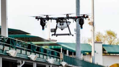 Drones fly to disinfect sports and entertainment venues