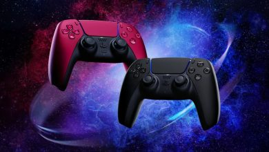 Sony PlayStation 5 DualSense Midnight Black and Cosmic Red