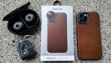 Nomad Rugged Leather Moment Case: MagSafe, 3-foot protection and extended lens support