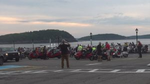 Scooter Cannonball riders en route from Maine to California to