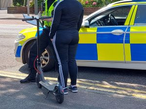 Police take action against illegal e-scooter drivers