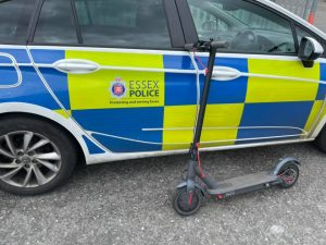 Police seize e-scooters from users in Grays city center and warn of fines for illegal use illegally