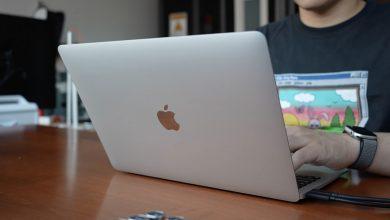 Apple M1 MacBook Air on table