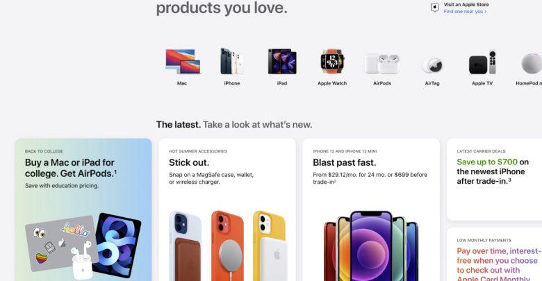 Apple Store redesign website