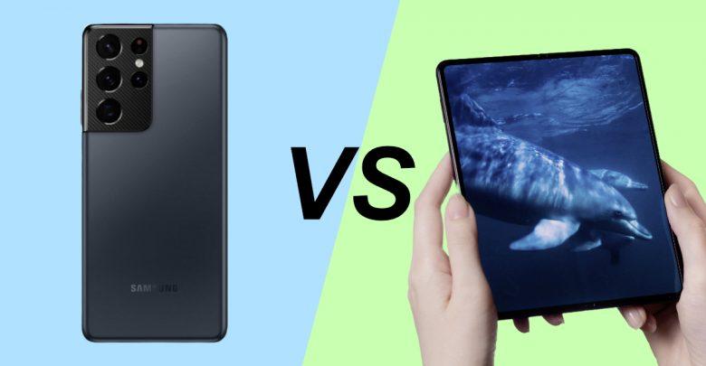 Samsung Galaxy Z Fold 3 vs Galaxy S21 Ultra