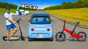 Drag race: Citroen Ami vs. electric scooters vs. e-bikes vs. RC cars