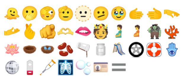 Unicode 14 emojis